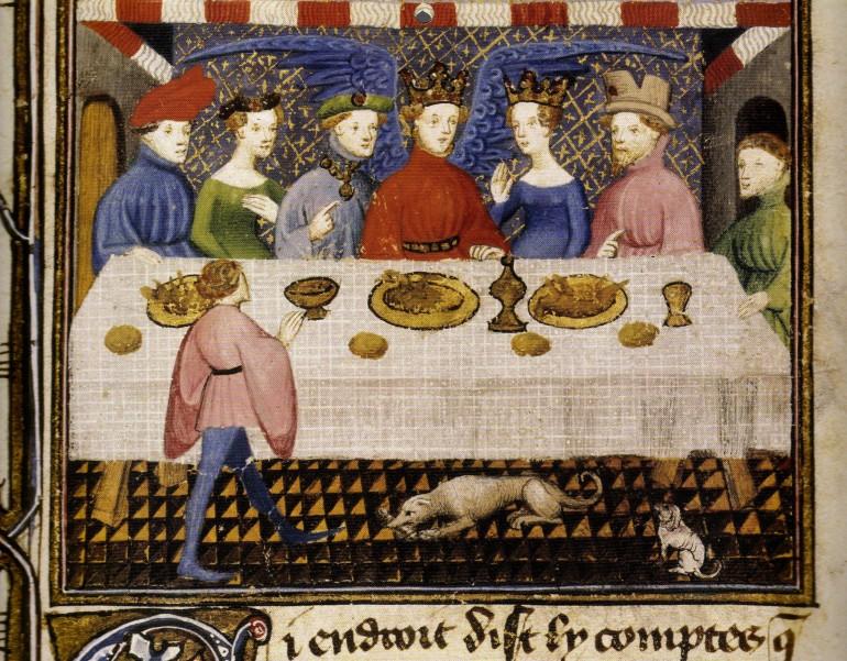 Banchetto alla corte di-Dieu dAmour dopo la seconda battaglia